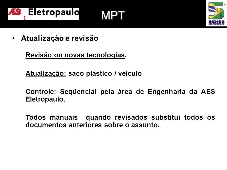 •Atualização e revisão Revisão ou novas tecnologias.