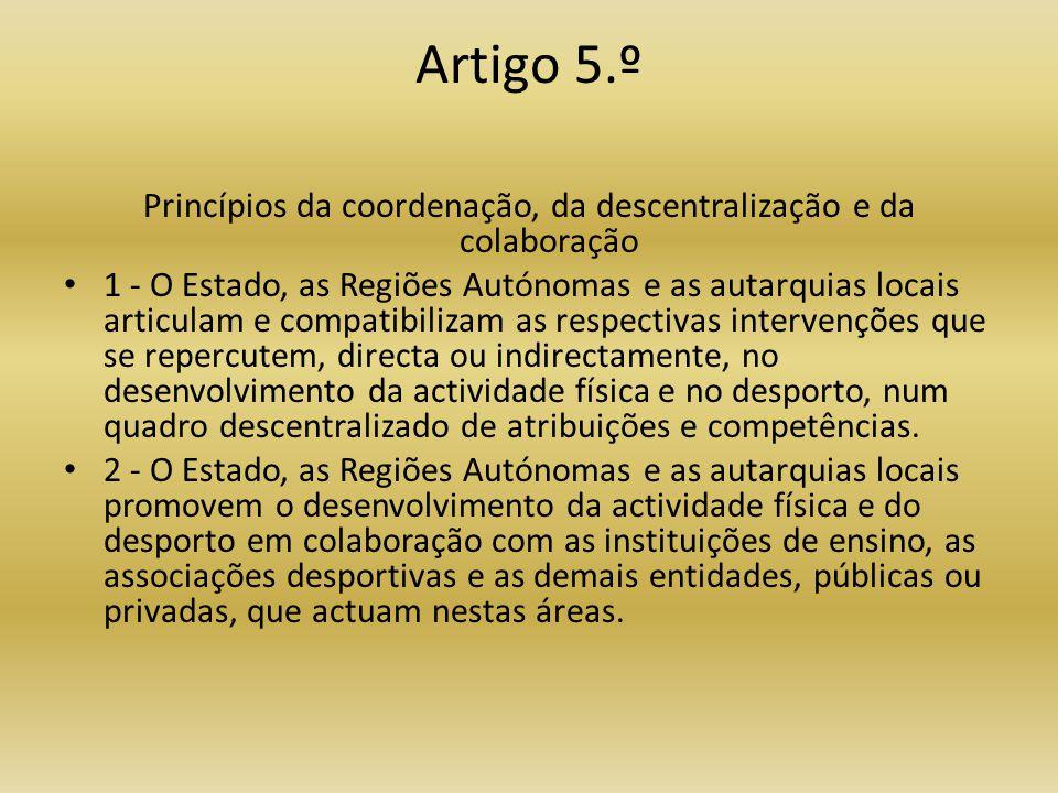 Artigo 12.º Comité Olímpico de Portugal • 1 - O Comité Olímpico de Portugal é uma associação sem fins lucrativos, dotada de personalidade jurídica, que se rege pelos seus estatutos e regulamentos, no respeito pela lei e pela Carta Olímpica Internacional.
