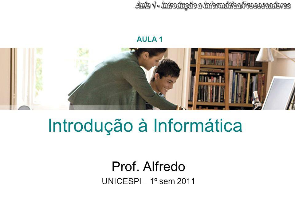 Introdução à Informática Prof. Alfredo UNICESPI – 1º sem 2011 AULA 1