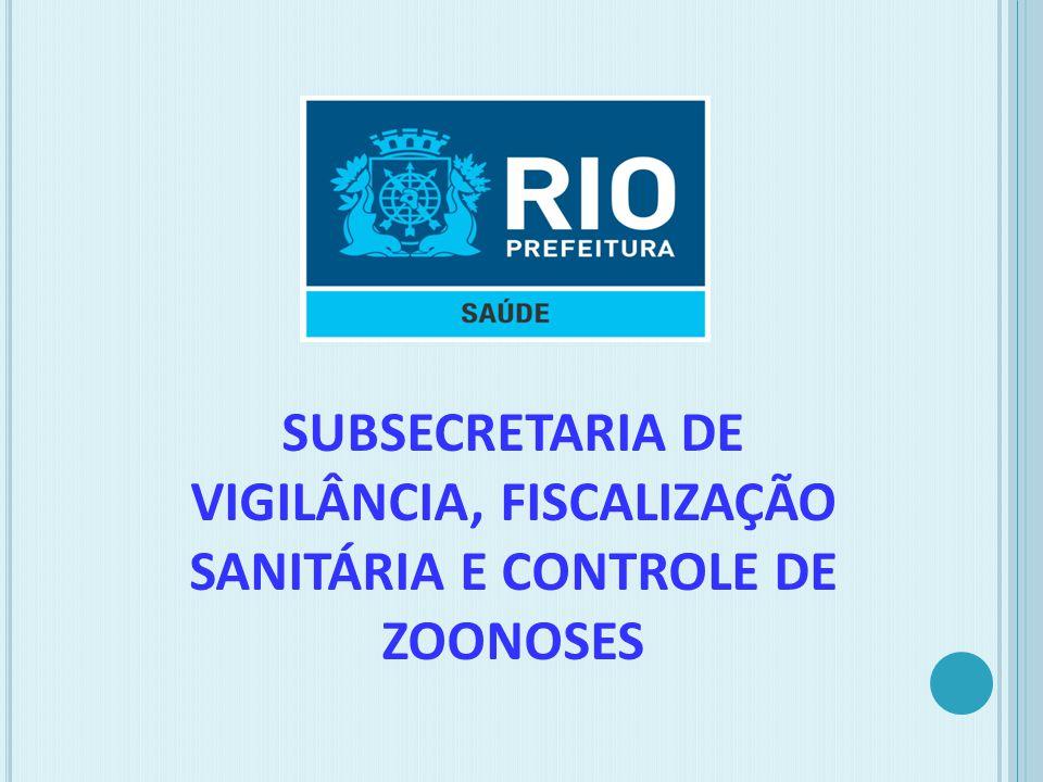 SUBSECRETARIA DE VIGILÂNCIA, FISCALIZAÇÃO SANITÁRIA E CONTROLE DE ZOONOSES