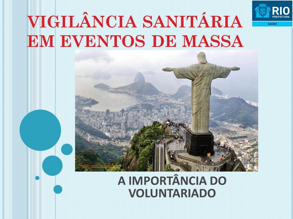 VIGILÂNCIA SANITÁRIA EM EVENTOS DE MASSA A IMPORTÂNCIA DO VOLUNTARIADO Fonte: www.rio.rj.gov.brwww.rio.rj.gov.br