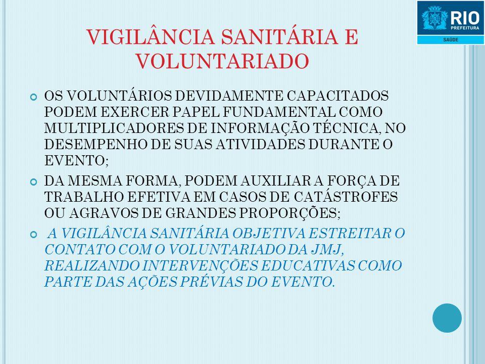VIGILÂNCIA SANITÁRIA E VOLUNTARIADO OS VOLUNTÁRIOS DEVIDAMENTE CAPACITADOS PODEM EXERCER PAPEL FUNDAMENTAL COMO MULTIPLICADORES DE INFORMAÇÃO TÉCNICA,