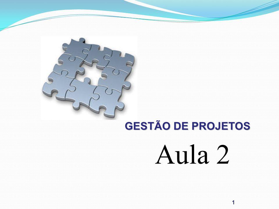 GESTÃO DE PROJETOS 1 Aula 2