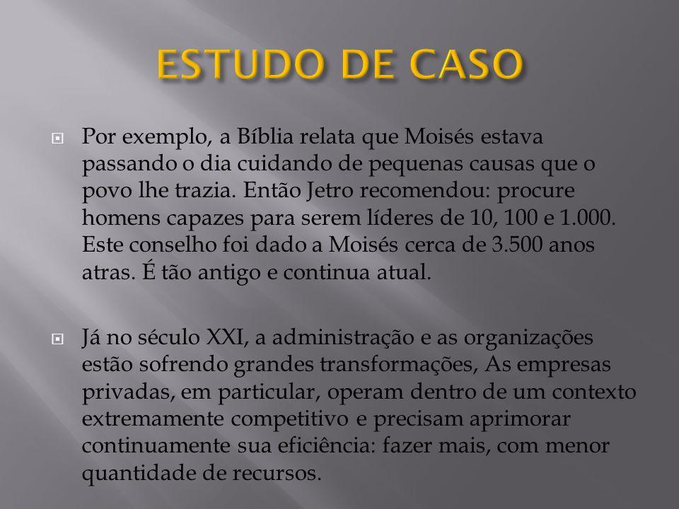  Por exemplo, a Bíblia relata que Moisés estava passando o dia cuidando de pequenas causas que o povo lhe trazia.