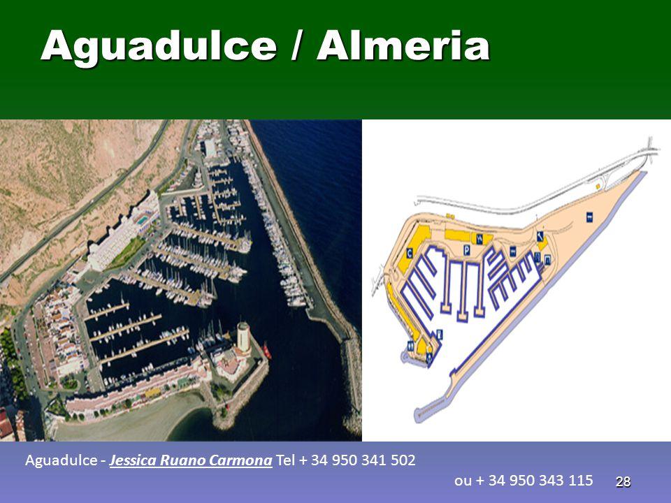 28 Aguadulce / Almeria Aguadulce - Jessica Ruano Carmona Tel + 34 950 341 502 ou + 34 950 343 115