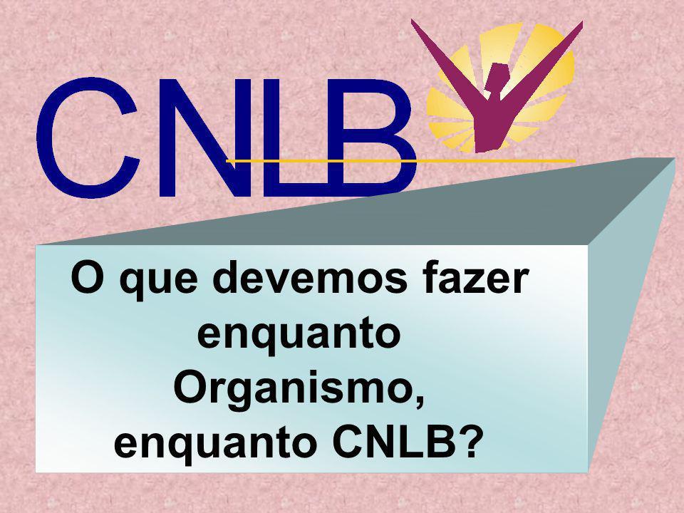 O que devemos fazer enquanto Organismo, enquanto CNLB?