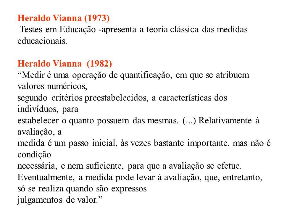 AVALIAR MEDIR Críticas: simplista, inflexível, limitada, opções política, social, teórica e metodológica.