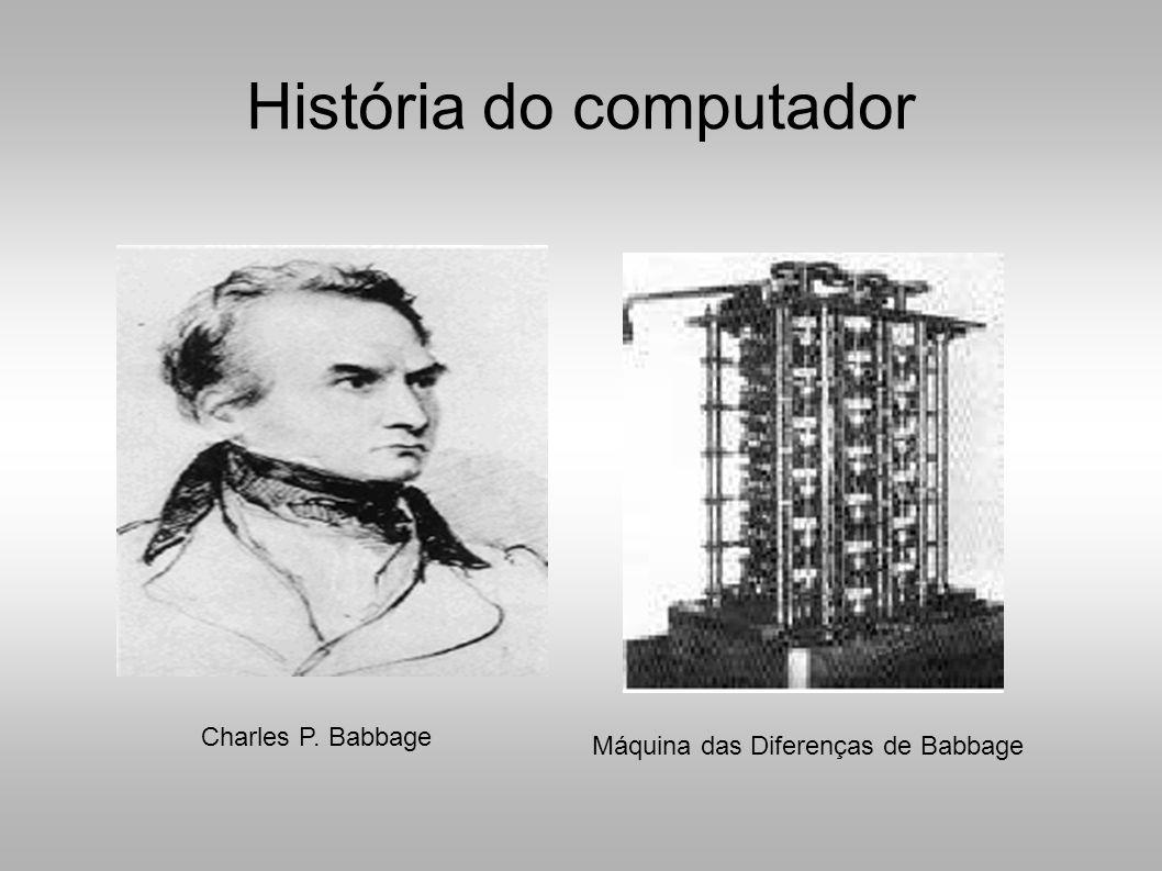 História do computador Máquina das Diferenças de Babbage Charles P. Babbage