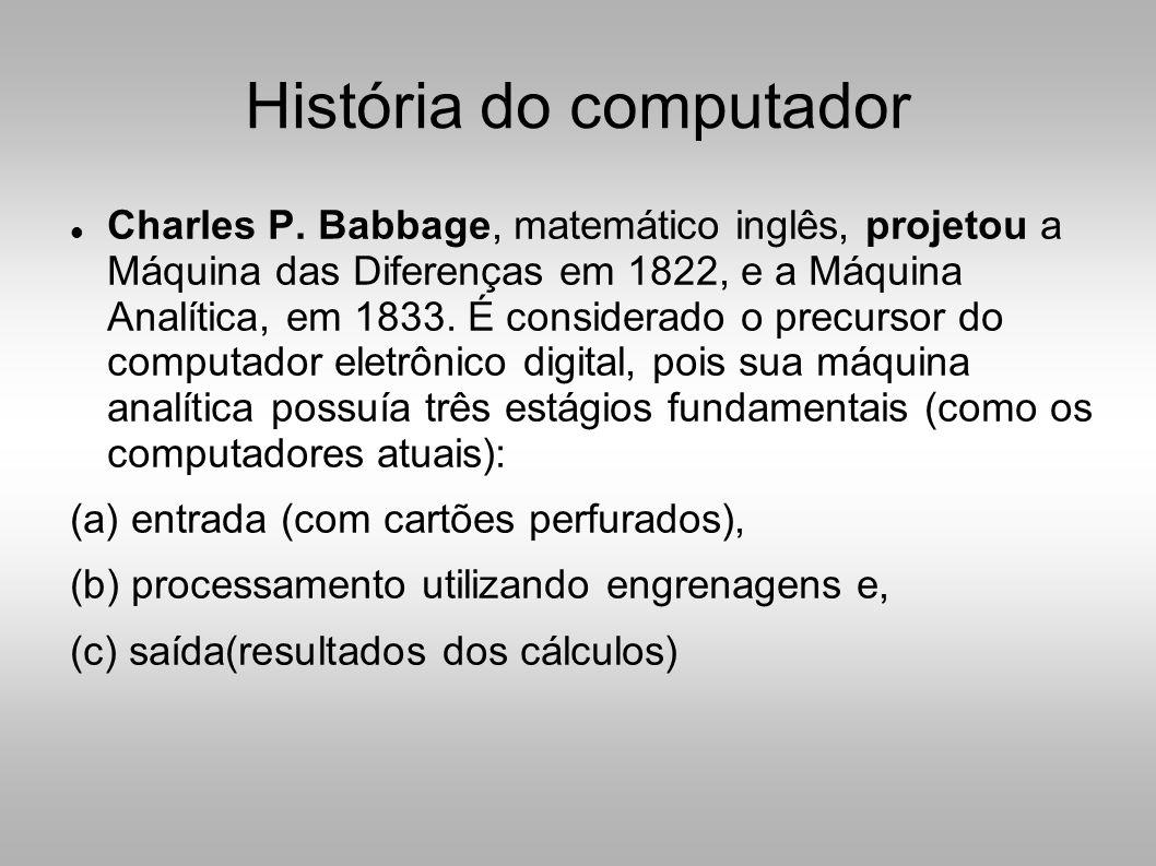 História do computador  Charles P.