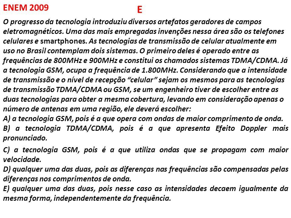 ENEM 2011 O processo de interpretação de imagens capturadas por sensores instalados a bordo de satélites que imageiam determinadas faixas ou bandas do espectro de radiação eletromagnética (REM) baseia-se na interação dessa radiação com objetos presentes sobre a superfície terrestre.