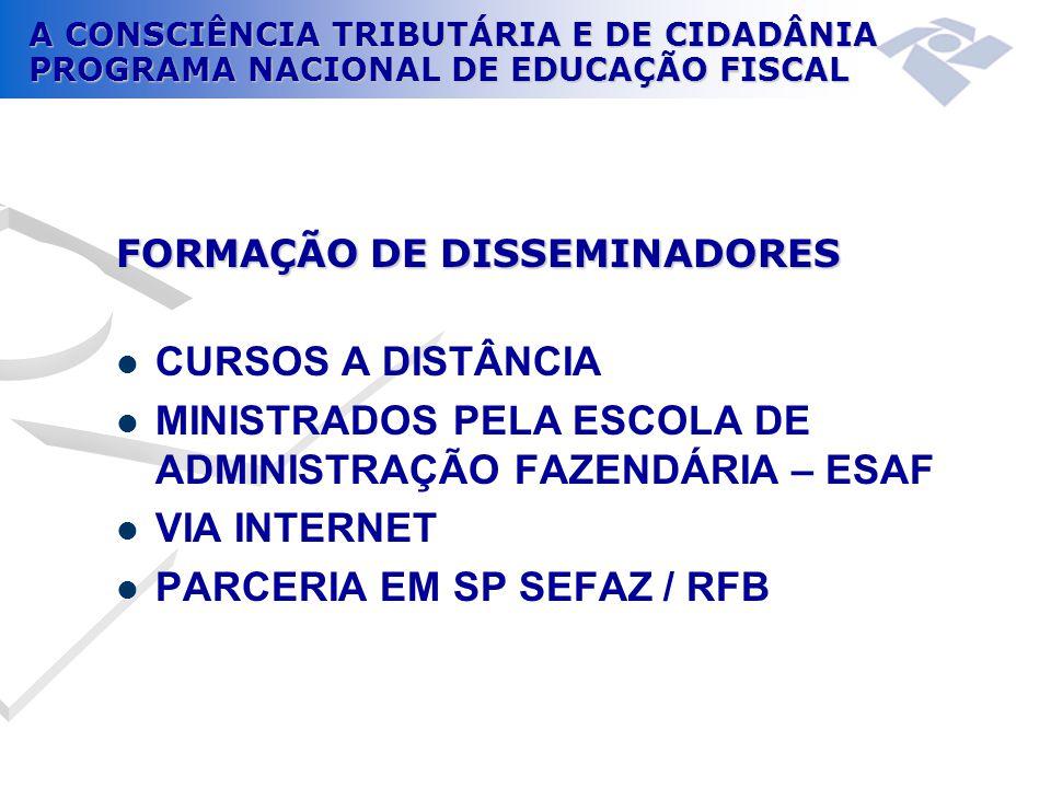 A CONSCIÊNCIA TRIBUTÁRIA E DE CIDADÂNIA PROGRAMA NACIONAL DE EDUCAÇÃO FISCAL CURSO 2011  PRIMEIRO SEMESTRE 250 INSCRITOS  Em 6 de abril de 2011, às 20h, a DELEGACIA DA RECEITA FEDERAL em BAURU promoveu um encontro presencial.