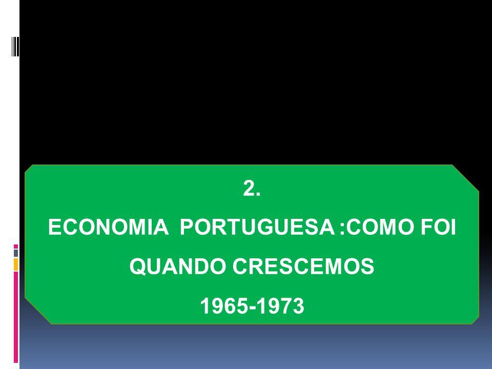 2. ECONOMIA PORTUGUESA :COMO FOI QUANDO CRESCEMOS 1965-1973