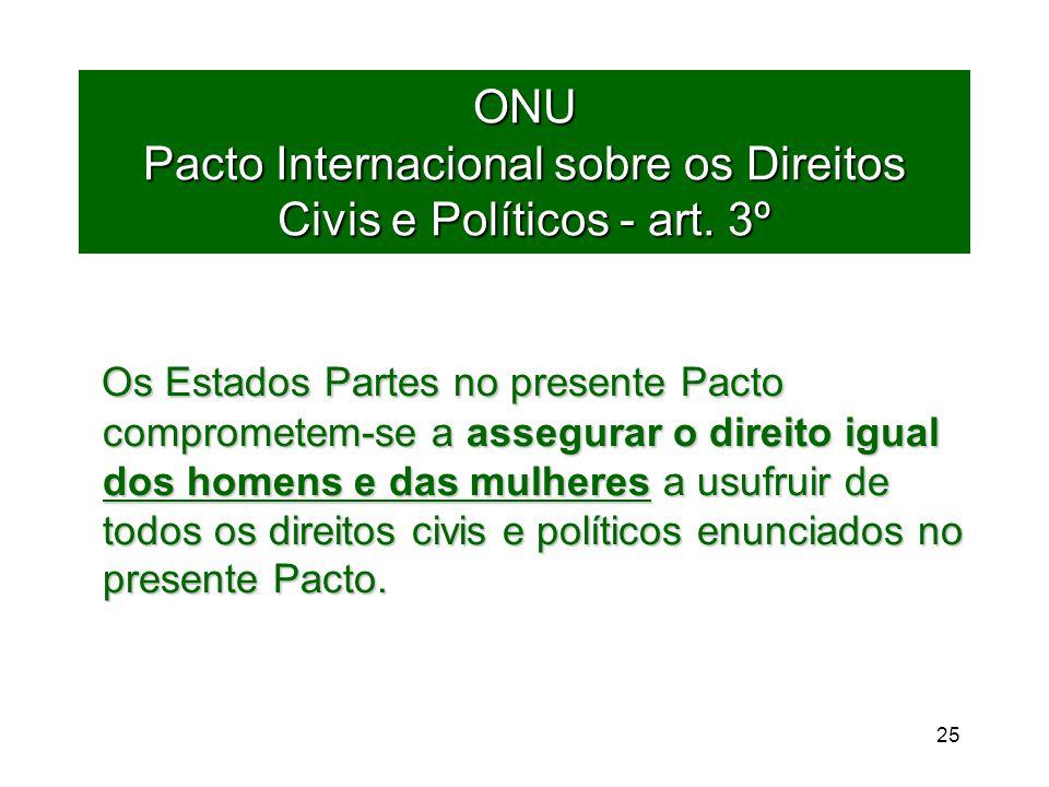 25 ONU Pacto Internacional sobre os Direitos Civis e Políticos - art.