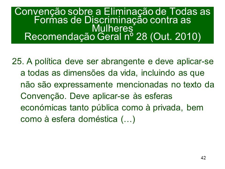 42 Convenção sobre a Eliminação de Todas as Formas de Discriminação contra as Mulheres Recomendação Geral nº 28 (Out.