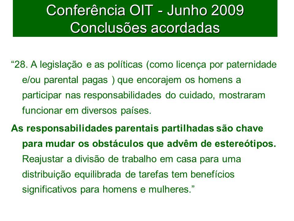45 Conferência OIT - Junho 2009 Conclusões acordadas 28.