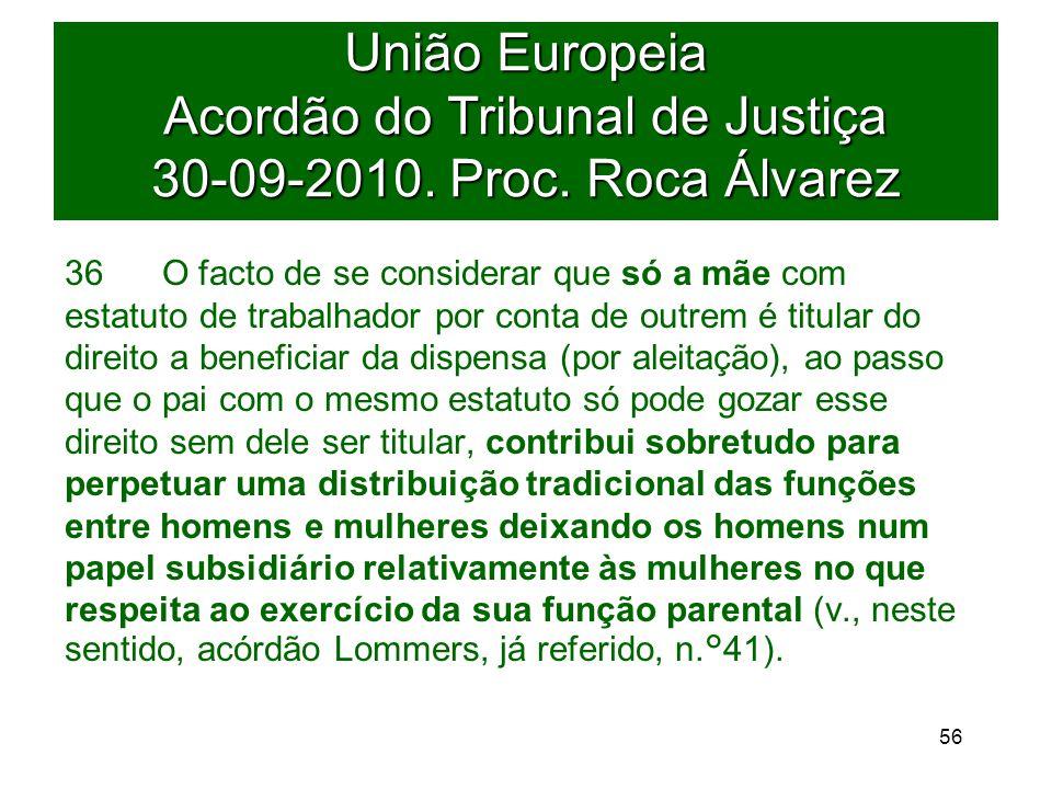 União Europeia Acordão do Tribunal de Justiça 30-09-2010.