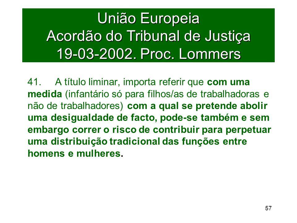União Europeia Acordão do Tribunal de Justiça 19-03-2002.