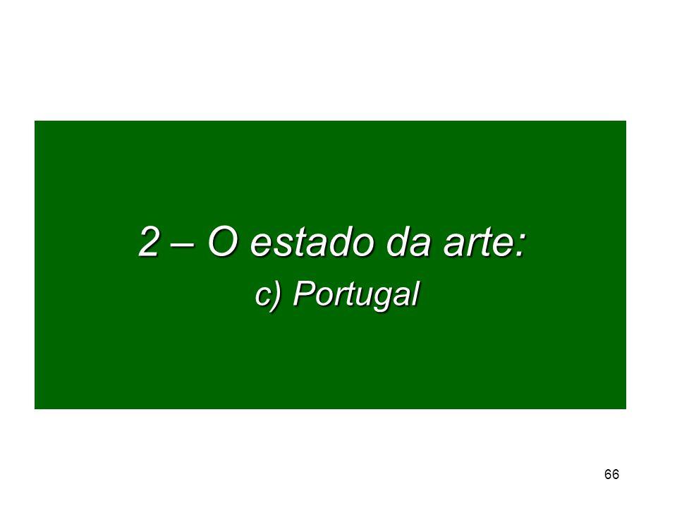 2 – O estado da arte: c) Portugal 66