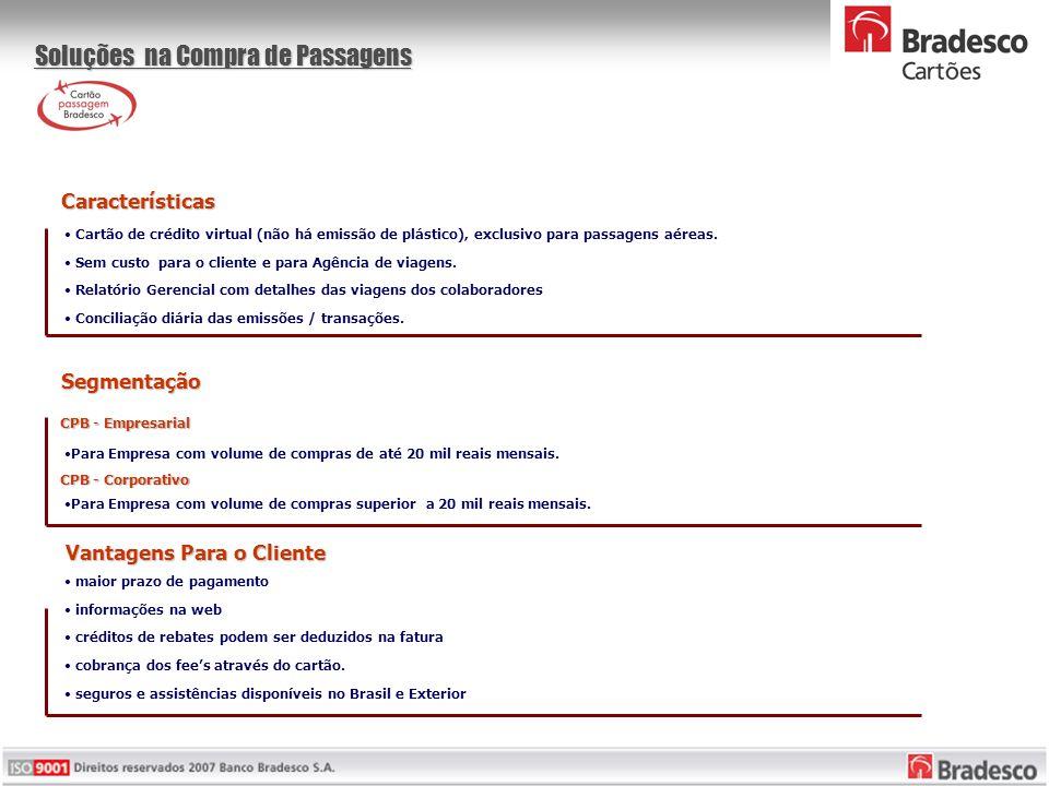 • Cartão de crédito virtual (não há emissão de plástico), exclusivo para passagens aéreas.