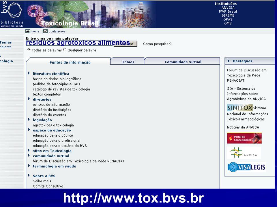 residuos agrotoxicos alimentos http://www.tox.bvs.br