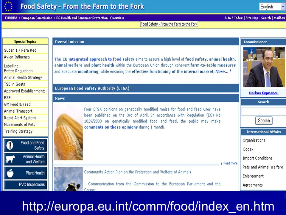 http://europa.eu.int/comm/food/index_en.htm