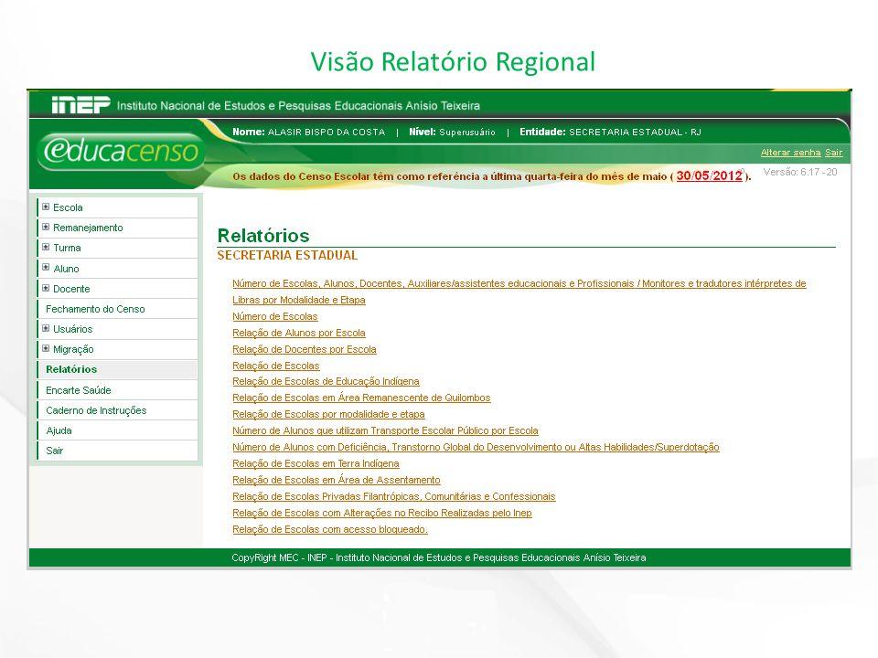 Visão Relatório Regional