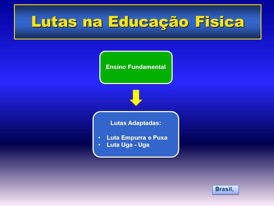 Ensino Fundamental Lutas Adaptadas: •Luta Empurra e Puxa •Luta Uga - Uga Lutas Adaptadas: •Luta Empurra e Puxa •Luta Uga - Uga Brasil, Lutas na Educaç