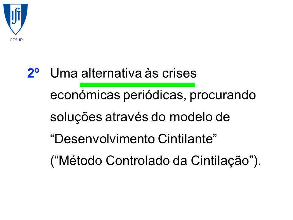 CESUR 2ºUma alternativa às crises económicas periódicas, procurando soluções através do modelo de Desenvolvimento Cintilante ( Método Controlado da Cintilação ).