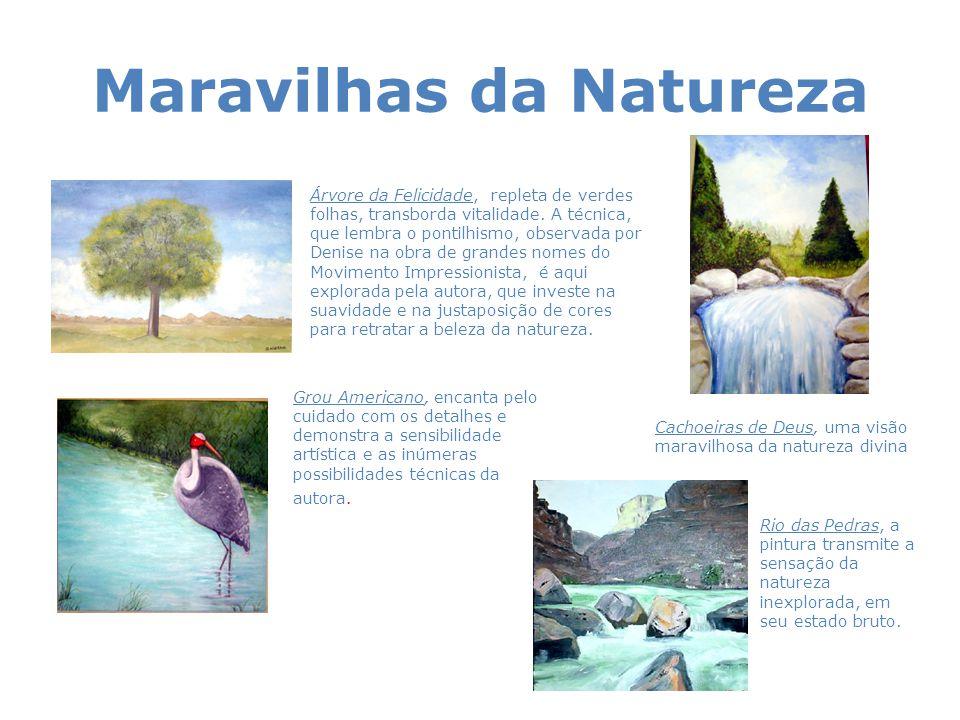 Maravilhas da Natureza Árvore da Felicidade, repleta de verdes folhas, transborda vitalidade. A técnica, que lembra o pontilhismo, observada por Denis