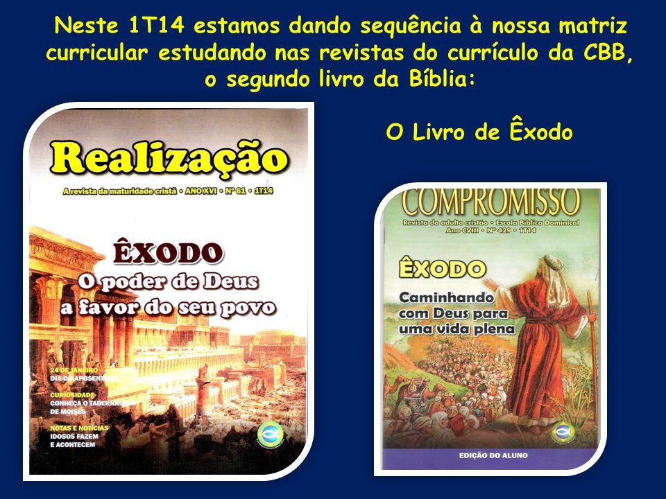1T14 – O Livro de Êxodo Estudo 06 Vós sereis para mim nação santa Texto bíblico: Êxodo 15.22 a 19.25 Texto áureo: Êxodo 19.6a E vós sereis para mim reino sacerdotal e nação santa.