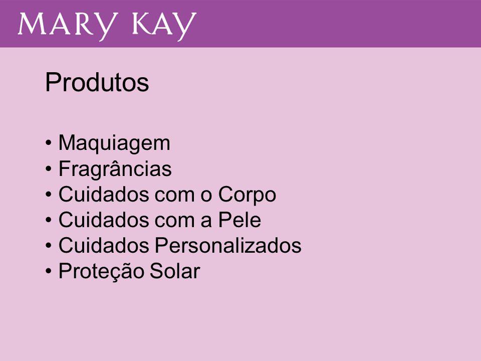 Produtos • Maquiagem • Fragrâncias • Cuidados com o Corpo • Cuidados com a Pele • Cuidados Personalizados • Proteção Solar
