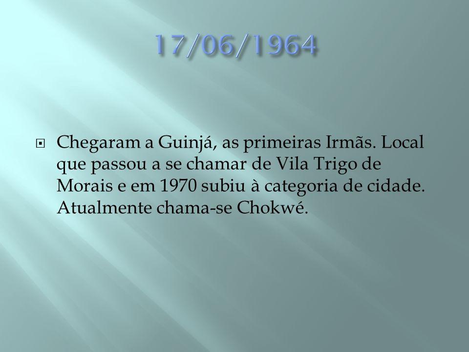 OUTUBRO DE 1981 O Cardeal Gouveia viu atendido seu 2º pedido ao Carmelo de São José em Fátima-Portugal, que prometeu ceder religiosas para a formação do Carmelo na África