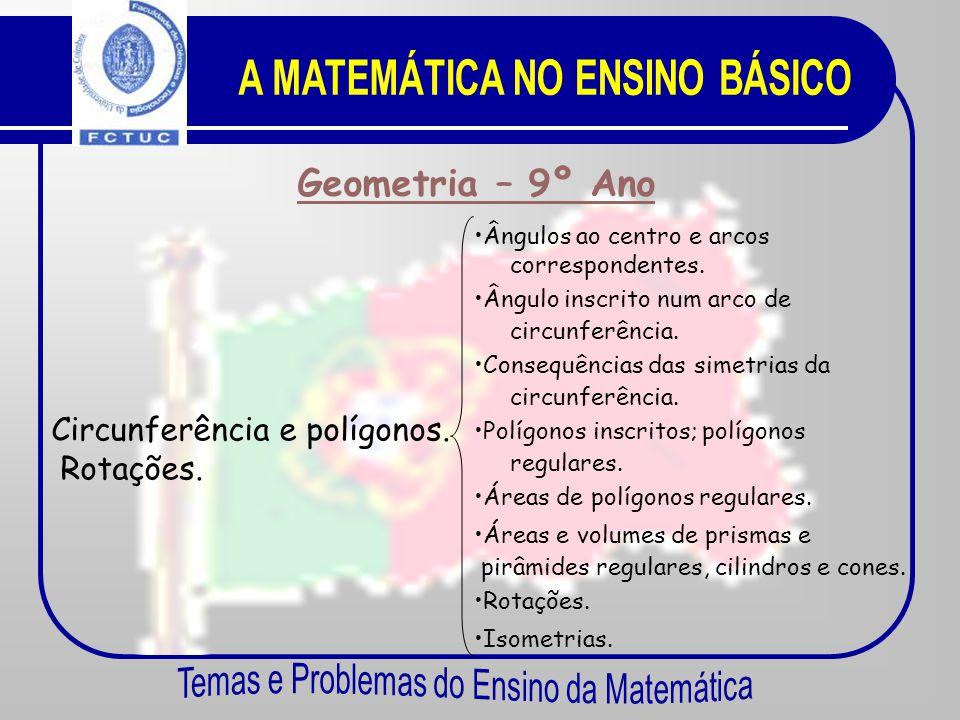 Geometria – 8º Ano Semelhança de triângulos. •P•Problemas envolvendo distância entre dois pontos. •C•Conjunção de condições e intersecção de conjuntos