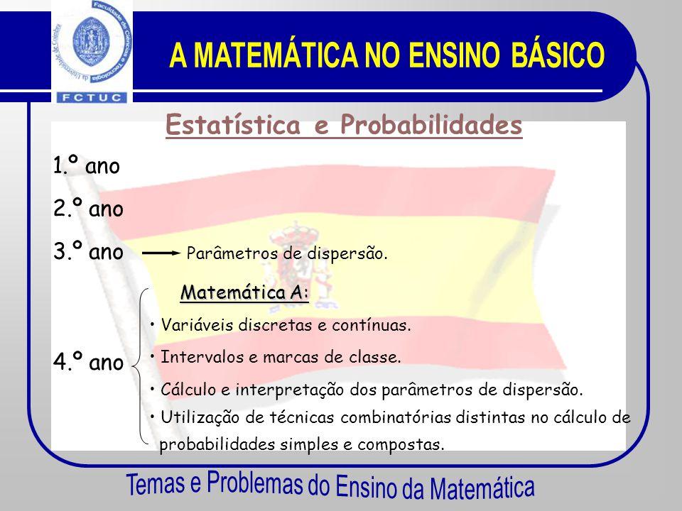 Funções 4.º ano M atemática A : • A função quadrática. A parábola. M atemática B: • Estudo gráfico de características globais de uma função. • Taxa de