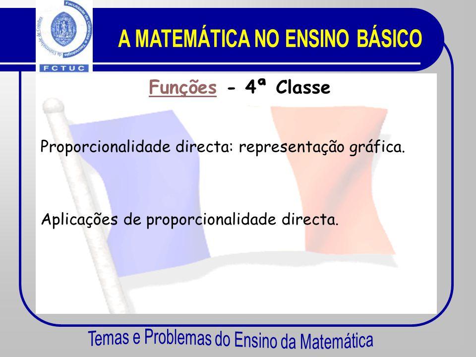 FunçõesFunções - 5ª Classe Proporcionalidade directa. Representações gráficas.