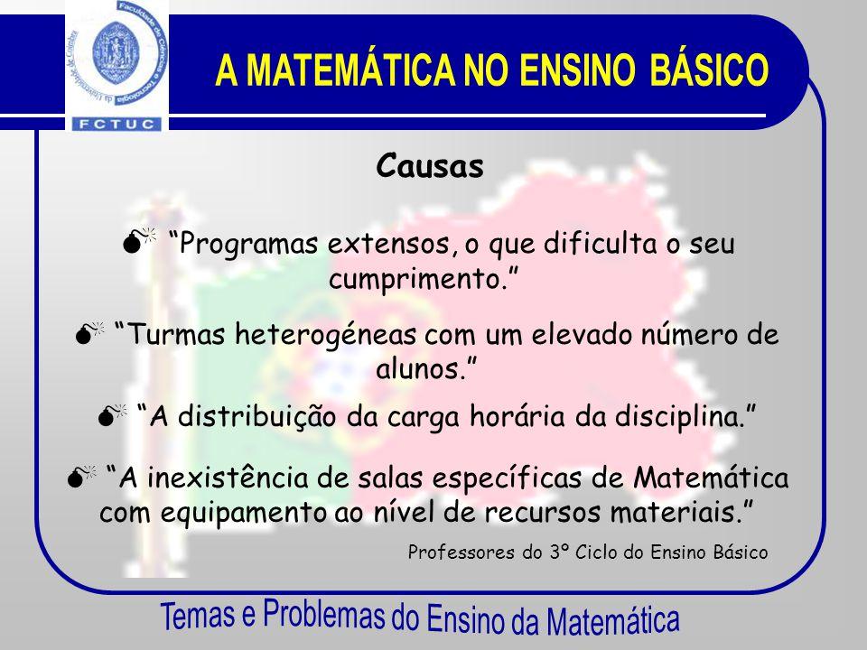 O Insucesso na Matemática Portugal