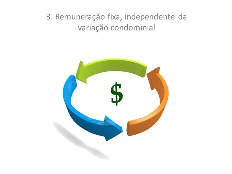 3. Remuneração fixa, independente da variação condominial
