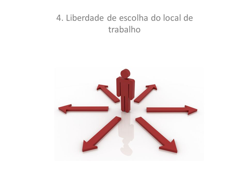 4. Liberdade de escolha do local de trabalho
