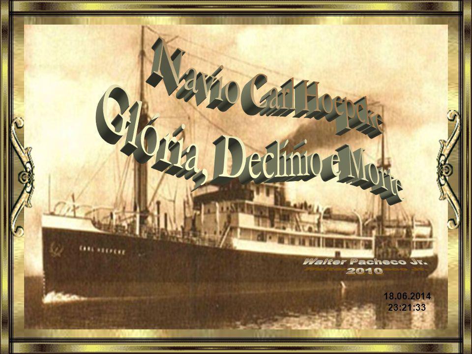O transatlântico Carl Hoepcke era um navio moderno, sofisticado e luxuoso para a época.