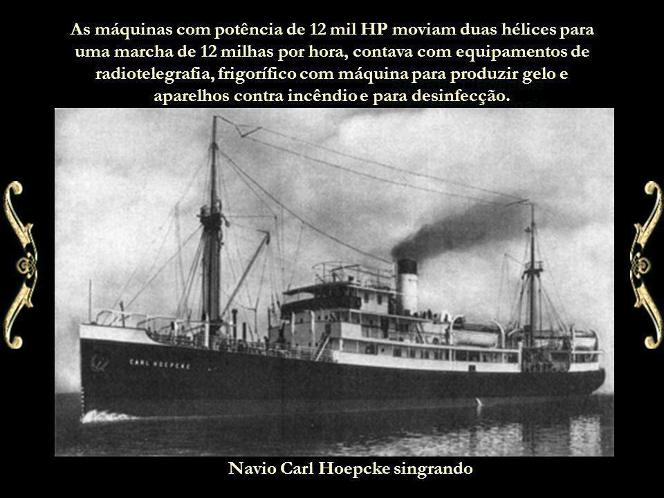 Acidente com o Carl Hoepcke O navio, em setembro de 1939, quando seguia em direção ao Rio de janeiro bateu numa laje de pedra, nas costas da Armação da Piedade, em Santa Catarina, sofrendo sua primeira tragédia.
