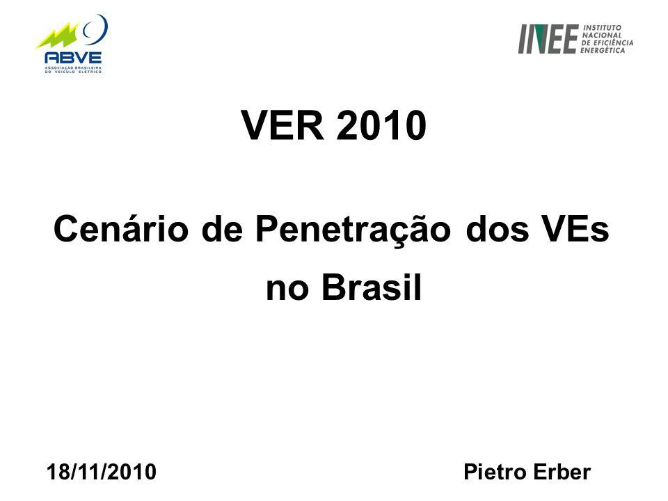VER 2010 Cenário de Penetração dos VEs no Brasil 18/11/2010 Pietro Erber