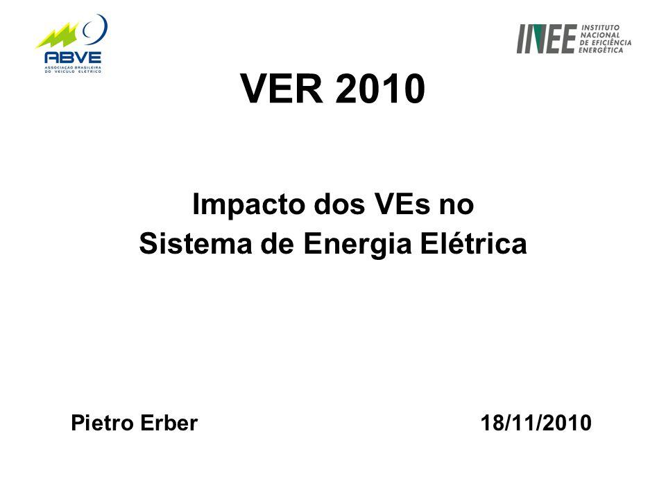 VER 2010 Impacto dos VEs no Sistema de Energia Elétrica Pietro Erber 18/11/2010