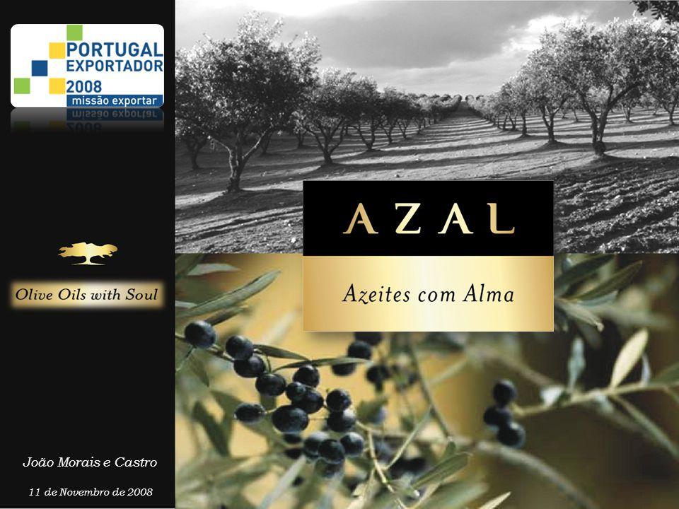 Azal, Azeites com Alma • A Azal é uma empresa cuja actividade está totalmente focalizada na produção e comercialização de Azeite de Qualidade superior, tendo como objectivo a promoção da qualidade na árvore e mantê-la ao longo de todos os elos da cadeia de valor.
