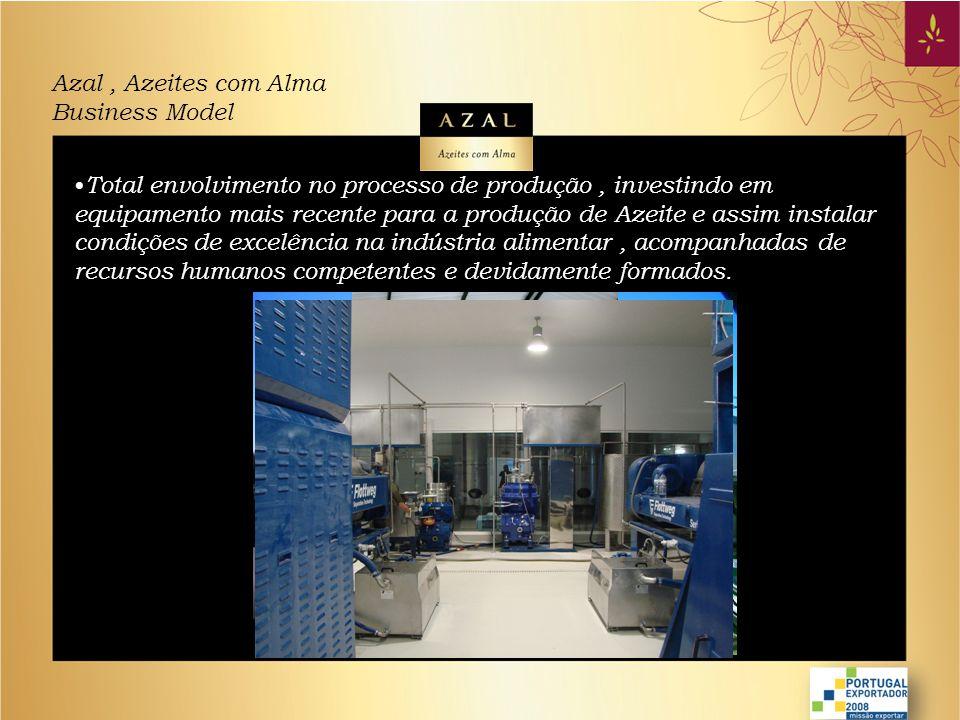 Azal, Azeites com Alma Business Model • Assegurar a comercialização e distribuição eficientes das marcas e produtos nos mercados nacional e internacional, concentrando esforços na optimização da qualidade de serviço prestado aos nossos clientes e consumidores.