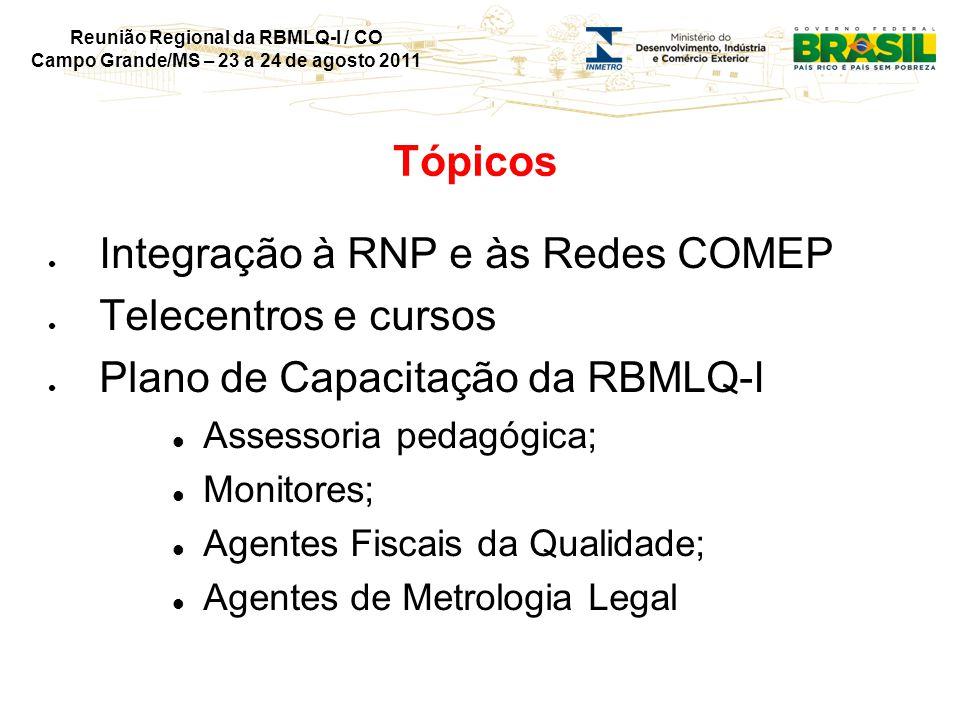 Reunião Regional da RBMLQ-I / CO Campo Grande/MS – 23 a 24 de agosto 2011 Uso 1S2011 - Sessões