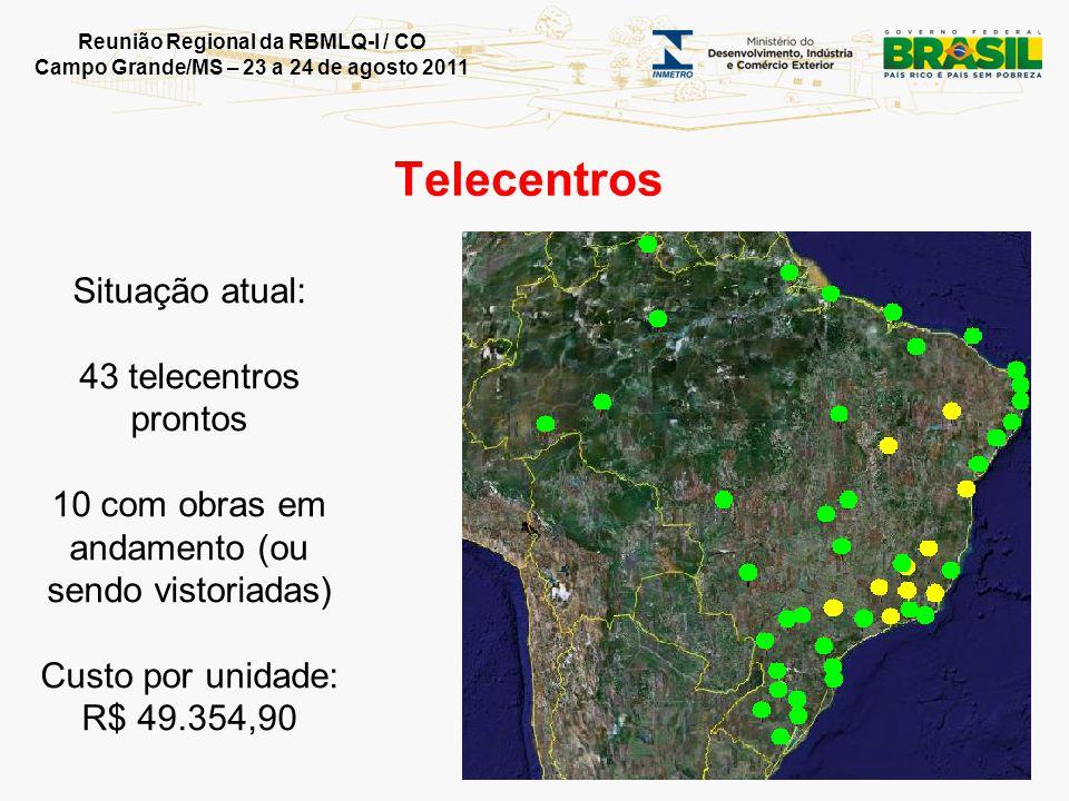 Reunião Regional da RBMLQ-I / CO Campo Grande/MS – 23 a 24 de agosto 2011 Muito obrigado INMETRO www.inmetro.gov.br 0800 285 1818