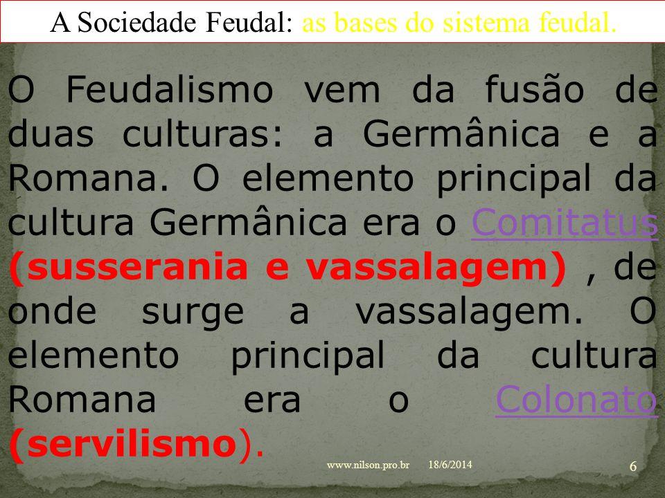 A Sociedade Feudal: fatores da formação do feudalismo INVASÕES BÁRBARAS GRUPOS BÁRBAROS * Tártaro-mongóis: hunos, turcos, búlgaros, húngaros(magiares)