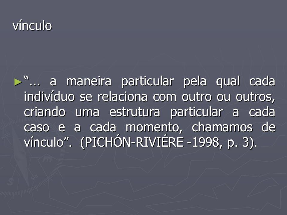 ► Psicanálise - descreve as possíveis relações de um sujeito com o objeto sem levar em conta a volta do objeto sobre o sujeito.