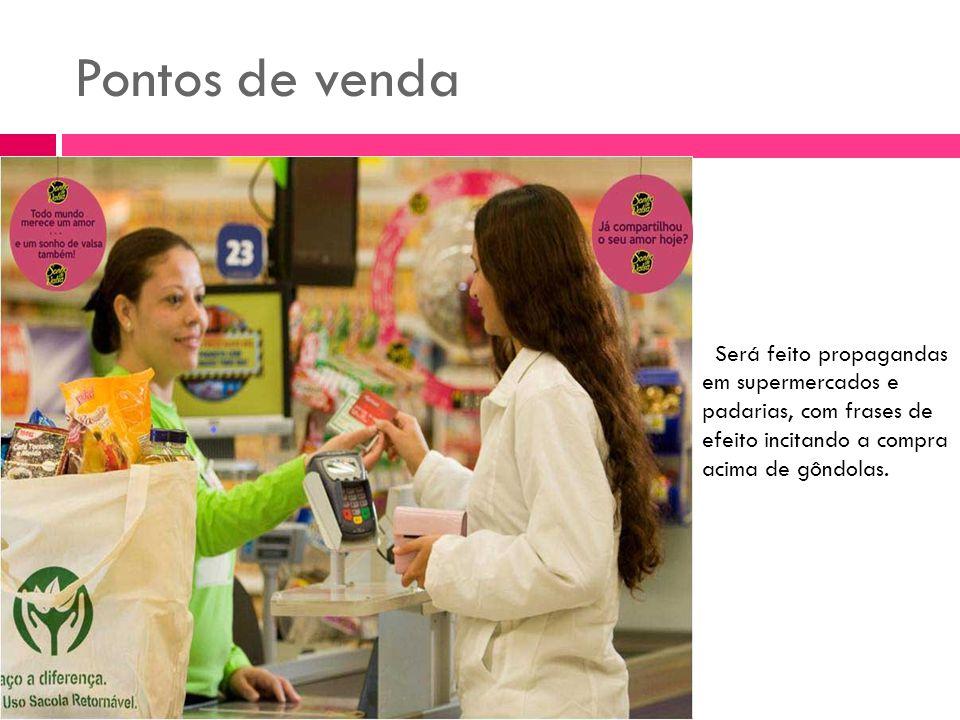 Será feito propagandas em supermercados e padarias, com frases de efeito incitando a compra acima de gôndolas.