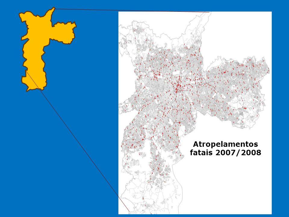 Companhia de Engenharia de Tráfego Acidentes de trânsito fatais em São Paulo investigados – 2006 a 2009 Fatores humanos contribuintes para acidentes com pedestres (266 acidentes investigados)